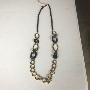 Chico's Black and Gold Necklace